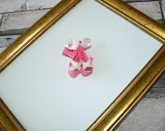 Ballet shoes hair clip