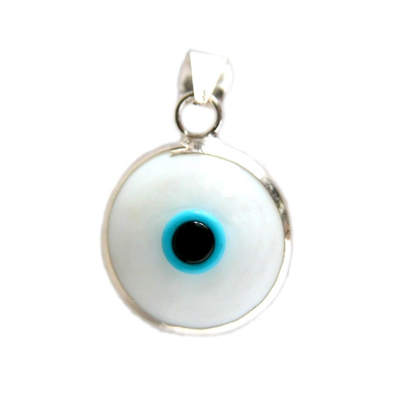 925k sterling silver white evil eye pendant evil eye jewelry evil 925k sterling silver white evil eye pendant evil eye jewelry evil eye charm silver evil eye turkish evil eye greek evil eye pendant aloadofball Image collections