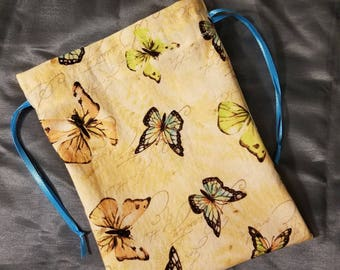 Paris Bags, Butterfly Gift Bag, Small Bag, Drawstring Bag, Birthday Party Bags, Birthday Gift Bag, Party Favor Bag, Small Drawstring Bag