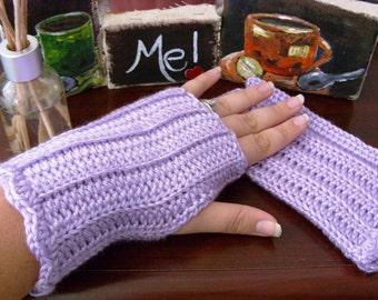 Purple Fingerless Gloves - Lavender Fingerless Gloves - Purple Gauntlets - Lavender Gauntlets - Purple Arm Warmers - Lavender Arm Warmers