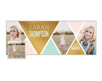 INSTANT DOWNLOAD - Senior Facebook timeline cover - Photoshop template - E1026