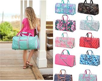 Custom Duffel Bag, Sports Bag, Overnight Travel Gym Bag Weekender Bag, Embroidered Dance Bag Monogrammed Weekend Bag Personalized Duffel Bag