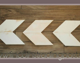 Chevron Arrows Reclaimed wood, white wash decor