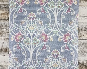 Willow Indigo Nouveau Floral Wallpaper - SZ001807 - Sold by the Yard