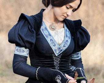 "14% DISCOUNT! Medieval Vest Bodice ""Lost Princess"";Fantasy Bodice;vest;medieval vest; ren vest; medieval waistcoat;"