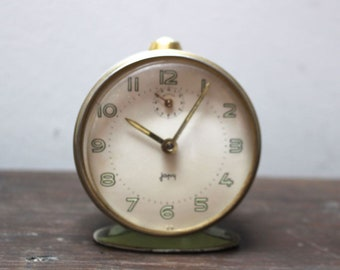 Vintage French mechanical alarm clock