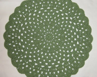 Crochet Centerpiece in Sage