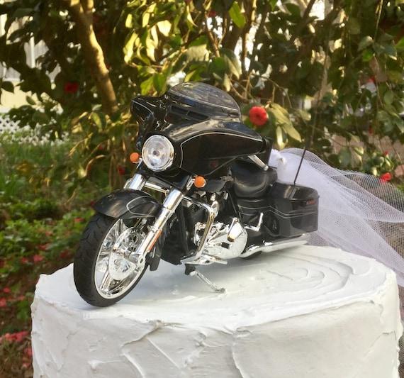 Motorcycle Cake Topper Wedding Cake Topper Harley Davidson