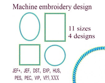 Machine embroidery designs frame.   Embroidery Monogram Frame Designs  Embroidery Designs. Instant Download.