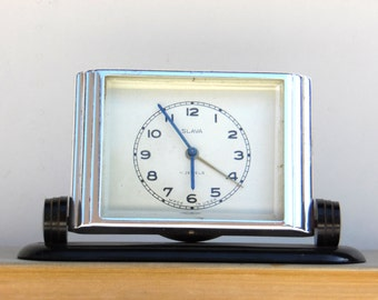 SLAVA / Non Working Mechanical Alarm Clock / Made in USSR