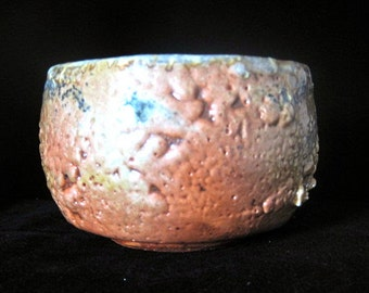 ceramic bowl,  chawan tea bowl, japanese, woodfired, tea bowl