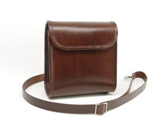 Small Leather Messenger Bag