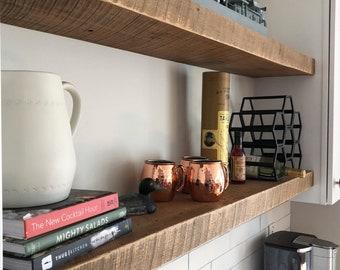 LARGE Rustic Reclaimed Wood Shelves - Barnwood Floating Shelf - Choose your size - Custom Size - 48, 54, 60 Inches -