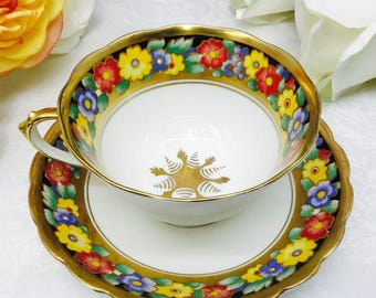 Chelson bone china teacup and saucer.