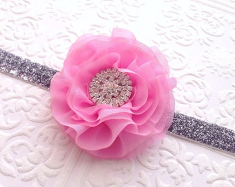 The Pink Chiffon Dream Headband or Clip