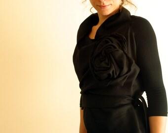 Wool Wrap Vest/ Sleeveless Winter Soft Jacket by NervousWardrobe on Etsy