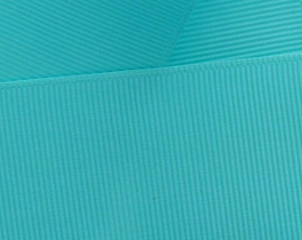 """1.5"""" Grosgrain Ribbon Solid 319 Light Turquoise 5yd"""