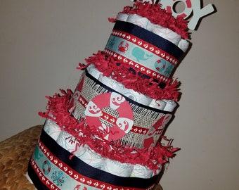 Ahoy It's a boy diaper cake