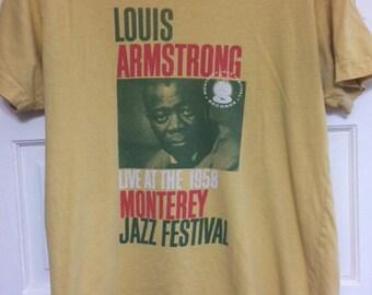 Louis Armstrong Monterey Jazz Festival T-Shirt! Mens Medium