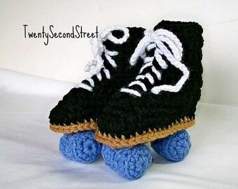 Baby Roller Skate Booties Crochet Baby Booties MADE to ORDER