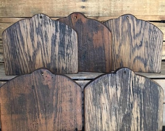 Reclaimed Barn Wood Horn Board for Punch Needle Cross Stitch Rug Hooking projects Blue Bird Fraktur design