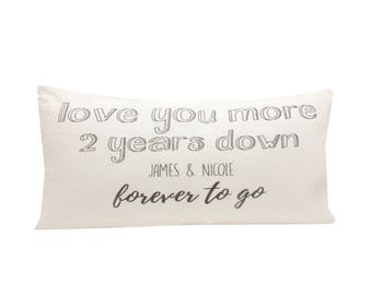 2nd year Anniversary Gift, Pillow Cover for Anniversary, Cotton Anniversary Gift