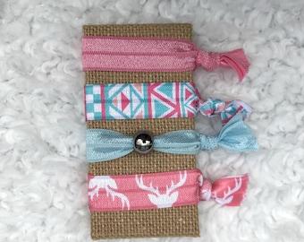 Pink Hair Tie / Country Girl / Deer / Blue Hair Tie