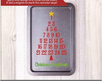 SVG Christmas Advent Calendar / christmas tree countdown /  Cricut advent / Christmas advent / Cookie sheet advent calendar / PNG EPS