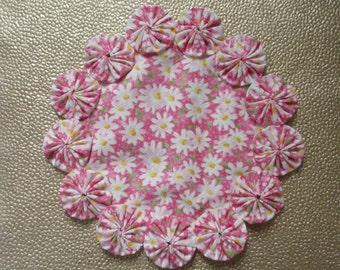 White Daisies on Pink Doily