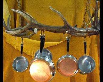 Pot Rack Handcrafted Elk Antlers Deer Antlers Antler Art Antler Decor Rustic Decor Rustic Furniture Shabby Chic