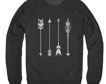 ON SALE, Skull Headdress - Skull Sweater - Arrow Sweater - Crew Neck Sweatshirt - Tri Blend Sweater - Unisex Sizing - All Sizes Available