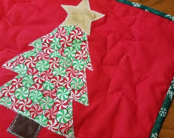 Christmas Tree with Stars Table Runner
