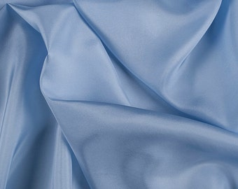 "45"" Wide 100% Silk Crepe de Chine Sky Blue by the Yard (1200M123)"