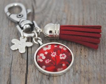 RED - PC002 LIBERTY BAG CHARM KEY RING
