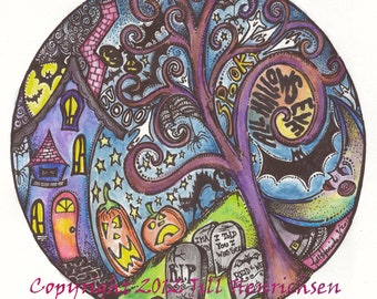 ALL HALLOWS EVE Color 12x12 Print