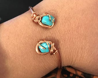 Turquoise adjustable cuff