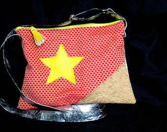 Red and yellow shoulder bag