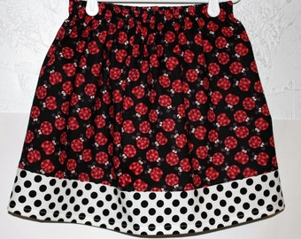Lady Bug Skirt    Size 2 - 8