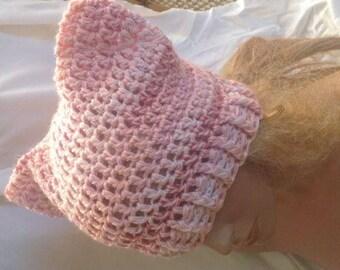 Sale - Shaded Pink Cat Ear Hat, Kitty Ear Hat, Pu**y Ear Hat, Pu**yHat, Crochet Cat Ear Hat, Cat Ear Beanie, Kitty Ear Beanie