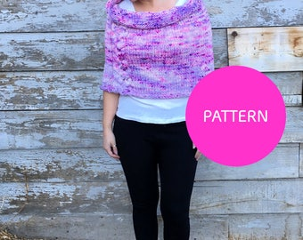 Knit pattern***, Big Braided Shrug, knit cabled shrug, knit caplet, cabled caplet, diy knit, Prem Knits, Big cabled shrug, knit shrug, knit