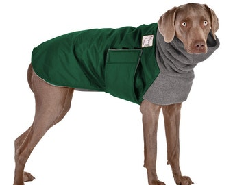 WEIMARANER Winter Dog Coat, Winter Coat, Winter Clothes, Waterproof Dog Jacket, Fleece Neck Warmer, Dog Snood, Large Dog Clothing, Apparel