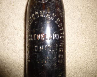 Sylla-Goodman Bottling Company - Cleveland - Incredibly Rare Amber Glass Beer/Soda Bottle with Raised Lettering