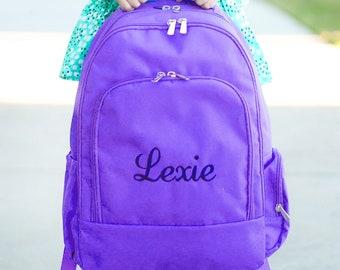 Personalized Backpack Purple Monogram Backpack