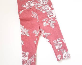 CLEARANCE* baby tights faint floral. FINAL SALE
