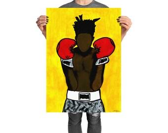 Basquiat, Radiant Child, Poster, Warhol, Boxing, Basquiat Art, Basquiat Poster, Print, Basquiat Print, Jean Michel Basquiat
