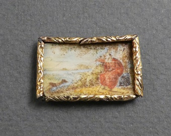 Tiny painting gold frame-another oddity from Marcia's collection