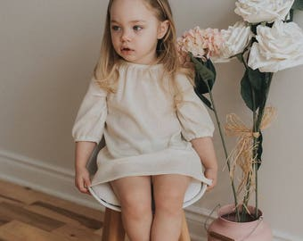 SS18 / IVORY / baby girl dress / toddler dress / dress / summer dress /toddler girl clothes / baby tunic / baby shower gift / gauze dress