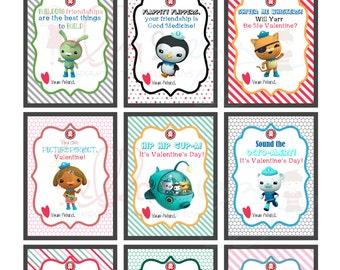 Printable Valentines, Octonauts Printable Valentines, Octonauts Cards, Octonauts Instant Download, Octonauts PDF, Kids Valentines