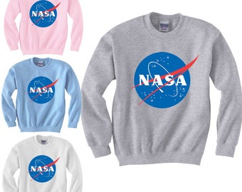 NASA Retro Logo Sweatshirt Insignia Space Science Geek Mens Unisex Sweaters S-3XL