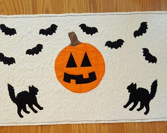 Holiday Halloween Quilted Table Runner
